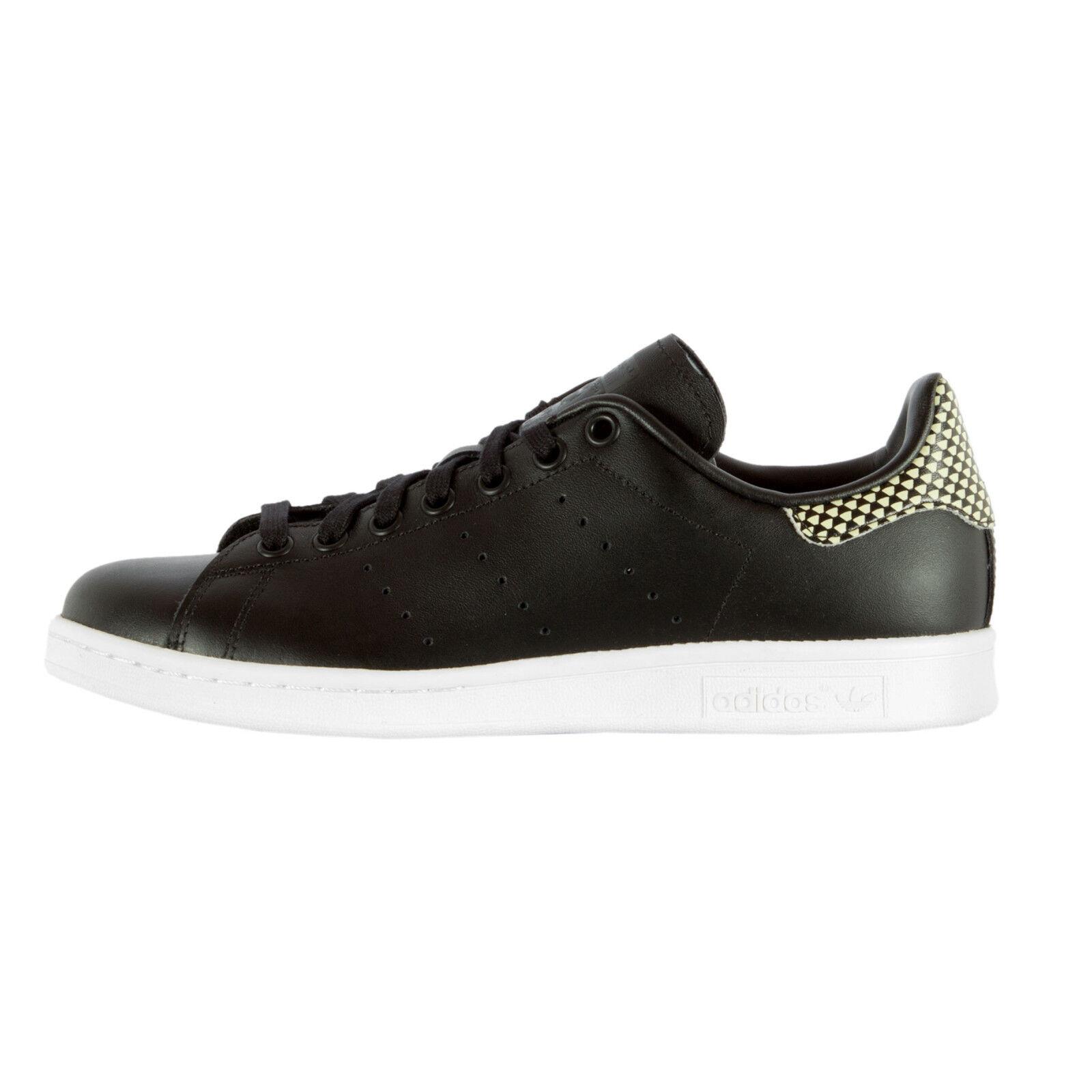 adidas Herren Sneaker S75318 Stan Smith Black Schwarz  / 40 / Turnschuhe