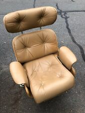 Vintage Eames Style Reclining Chair With Built In Footrest