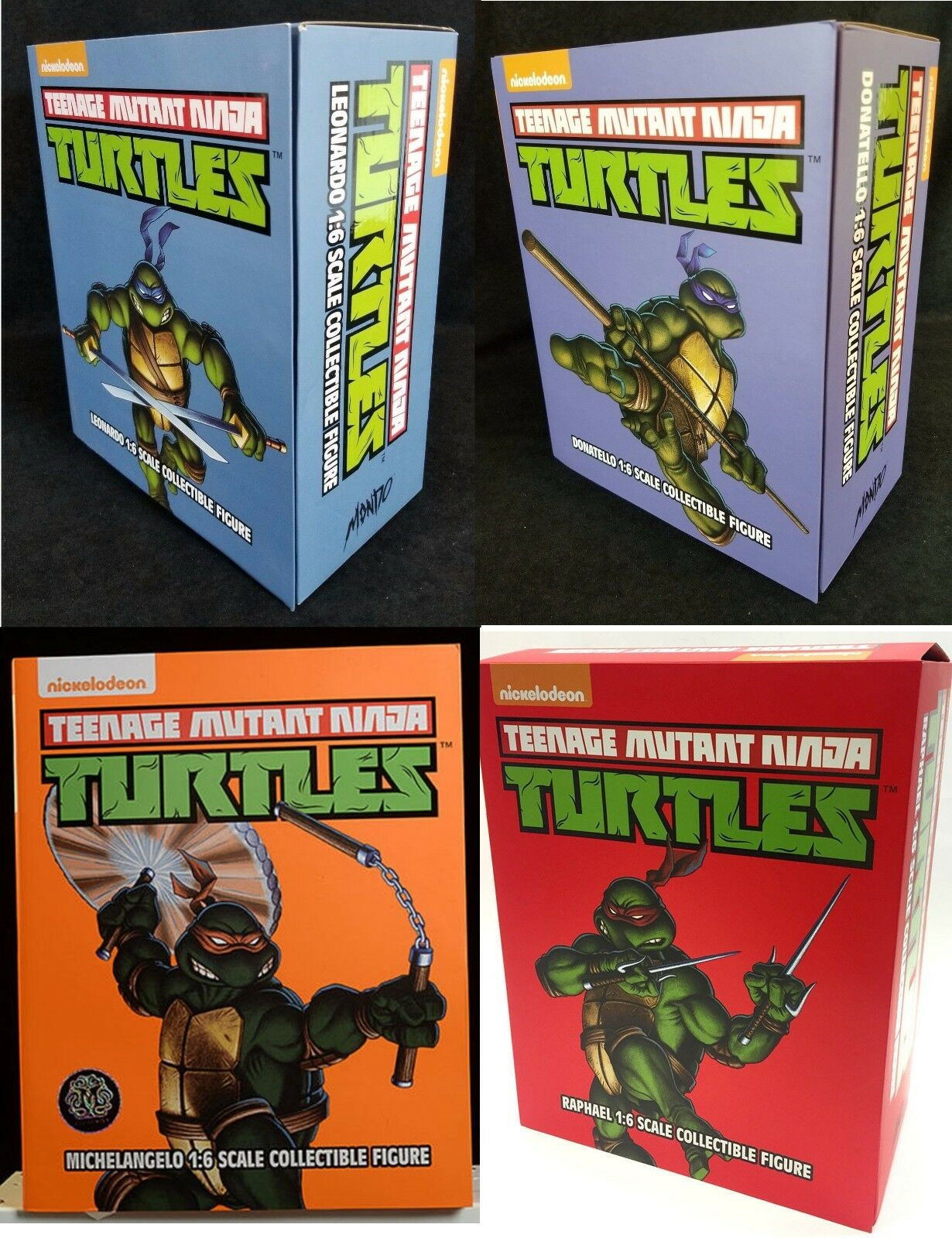 Teenage Mutant Ninja Turtles MONDO 1 6 Scale Complete Set 4 Action Figures TMNT