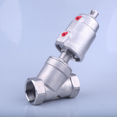 Stainless Steel Air Actuated Angle Seat Pneumatic Steam Valve Normally Closed