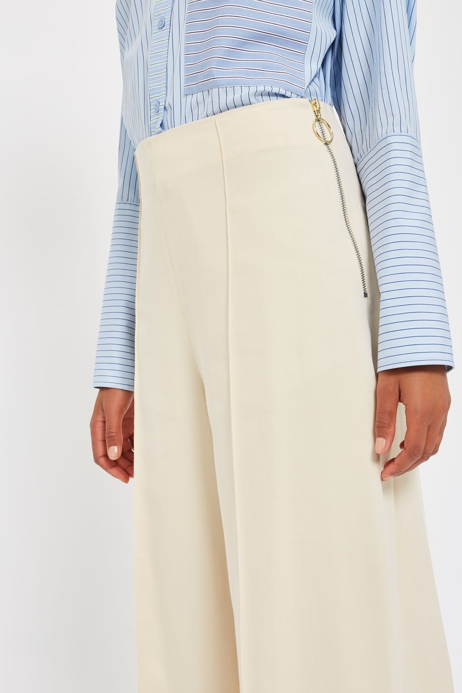 Topshop lato Split Pantaloni Pantaloni Pantaloni Da Boutique Taglia 6 34 US 2 12 40 US 8 RRP .00 eb3b44