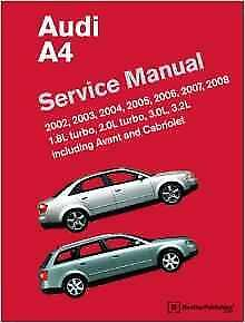 audi a4 b6 b7 saloon avant cabriolet owners handbook workshop rh ebay co uk audi a4 b6 service manual pdf download audi a4 b6 service manual