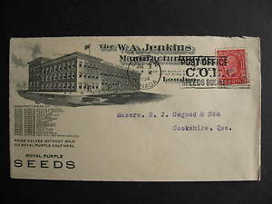 CANADA 1934 WA Jenkins Manufacturing Co advertising cover, check it out!