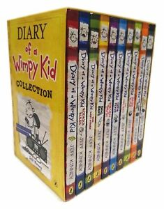 Diary-of-a-Wimpy-Kid-10-Books-Boxed-Set-Collection-Hard-Luck-Thi-Kinney-Jeff