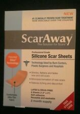 ScarAway ® Silicone Scar Sheets Professional Grade  8 Each 2 Months Scar away