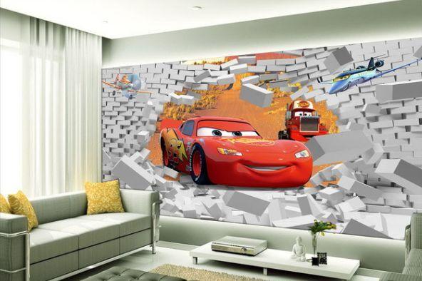 3D redes Auto Leute 256 Fototapeten Wandbild Fototapete BildTapete Familie