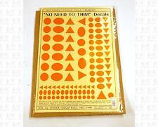 Virnex HO Decals Circle Oval Triangle Logo Shapes Safety Orange 1984