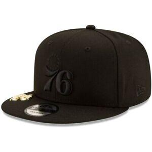 Philadelphia-76ers-New-Era-Black-on-Black-Metal-Duel-9FIFTY-Snapback-Hat-Black