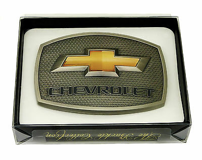 Chevrolet Belt Buckle Chevy Gold Logo Authentic Spec Cast Officially Licensed