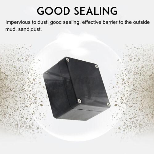 Kunststoff Elektronik Gehäuse Box Wasserdicht Schwarz ABS Projekt Box w//Schraube