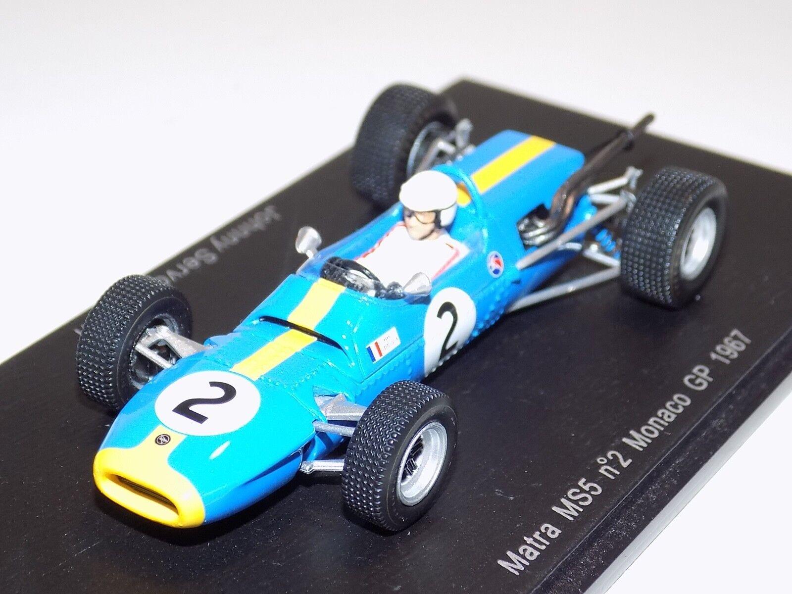 1 43 Spark F1 Formula 1 Matra MS5 car Monaco GP J.S.Gavin   S1595
