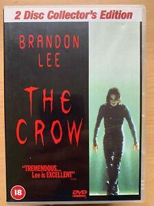 The-Crow-DVD-1994-Original-Brandon-Lee-Revenge-Horreur-Classique-2-Discs