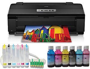 Details about NEW Epson Artisan Photo 1430 Printer 13x19 CIS Refillable  Sublimation Ink Bundle