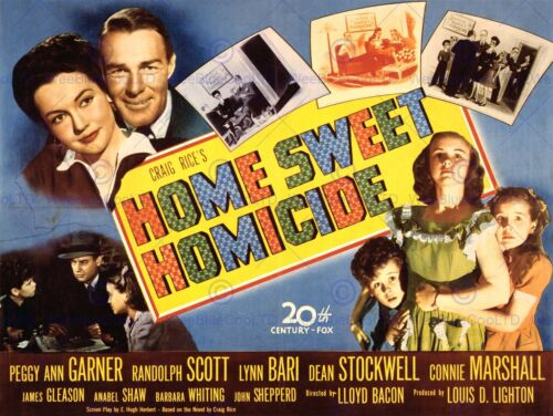 ADVERTISING MOVIE FILM HOME SWEET HOMICIDE MURDER COMEDY ART PRINT POSTER BB7498