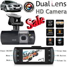 "1080P 2.7"" HD LCD Dual Lens Car Vehicle Dashboard Camera DVR GPS Recorder"