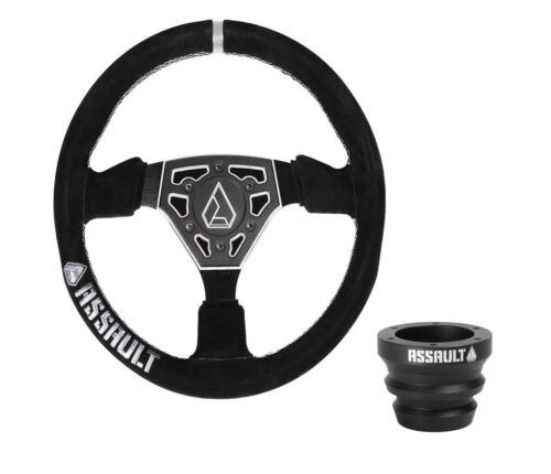 Assault Industries Raw Navigator Suede Steering Wheel /& HubRZR General X3 XX