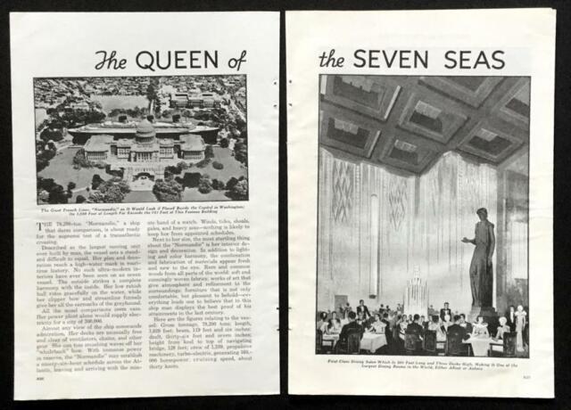 Ss Normandie Ocean Liner 1935  Queen Of The Seven Seas