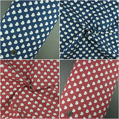 Love Hearts Red Grey Frames 100/% cotton Fabric 160cm wide sewing patchwork