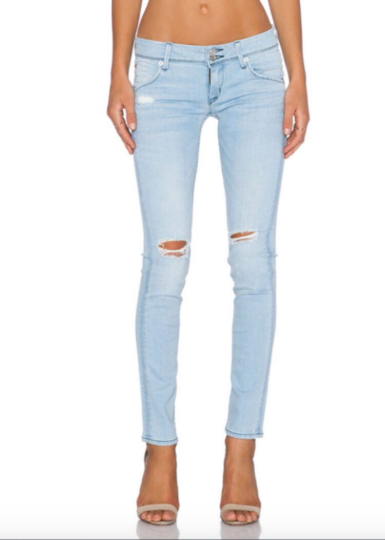 NWT HUDSON STRATA Destructed Collin Skinny RUNWAY Jeans 30 Distressed W422DYS