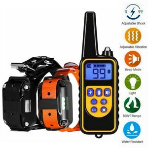 Waterproof-Electric-800m-Remote-Pet-Trainer-Shock-Training-Collar-for-1-or-2-Dog