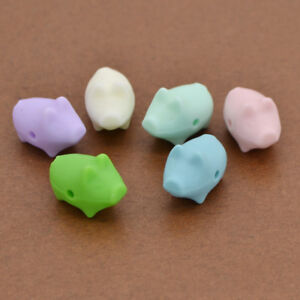 DIY Silicone Teething Beads Little Pig Shaped Handmade Cute Kids Craft Toy New