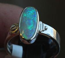 Brazil Crystal Opal 2.1 Karat 950er Silberring Größe 18,8 mm Unikat