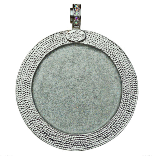 KIRKS FOLLY goddess 50 mm Seaview Lune magnétique Collier Silvertone//lavande