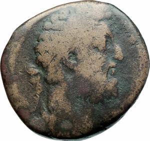 COMMODUS-177AD-Sestertius-Big-Authentic-Ancient-Roman-Coin-Felicitas-i79317