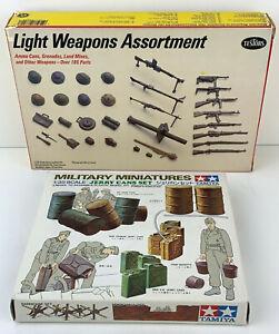 WWII-Diorama-Scene-1-35-Tamiya-Jerry-Can-Set-amp-Testors-Light-Weapons-Assortment