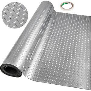 Garage Flooring Mat Roll PVC Flooring Raised Mat Trailer Floor Covering 2.5x1.1m
