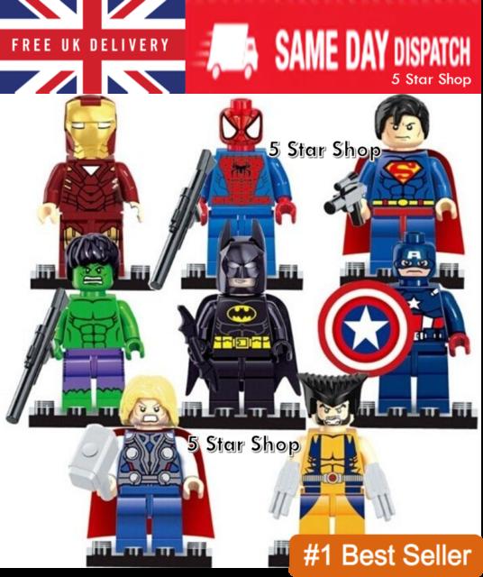 UK Seller Marvel Avengers Superheroes Custom Hulk Mini Figure