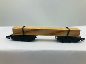 Marklin-Z-Scale-Mini-Club-8619-Lumber-Transport-Car