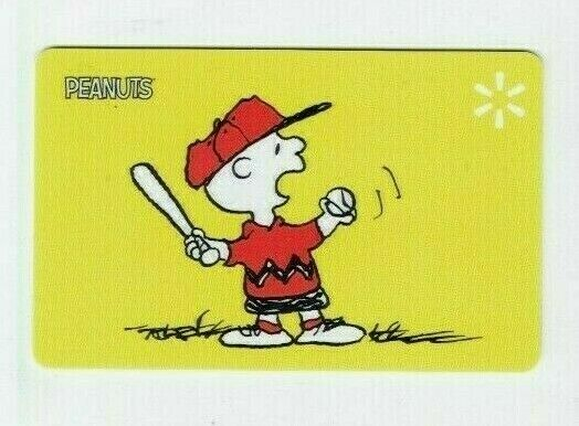 Walmart Gift Card Charlie Brown / Peanuts / Baseball - No Value - I Combine Ship