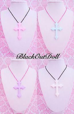 NEW! Pastel Goth Soft Grunge Harajuku Kawaii Cross Crucifix Necklace