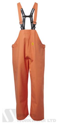 Viking caoutchouc supérieure Bib Bretelles Pantalon Imperméable agricoles de pêche orange