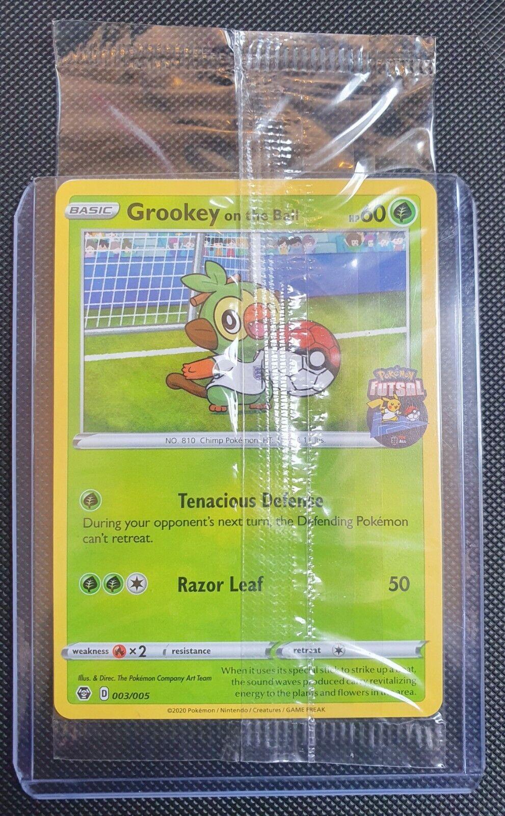 NEW /& SEALED Grookey On The Ball 003//005 Pokemon FA England Futsal Promo Card
