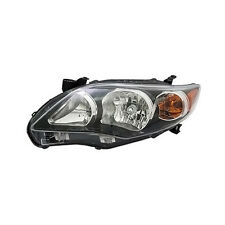 2011 2012 2013 TOYOTA COROLLA HEADLIGHT LAMP S/XRS USA BLACK NSF LEFT DRIVER