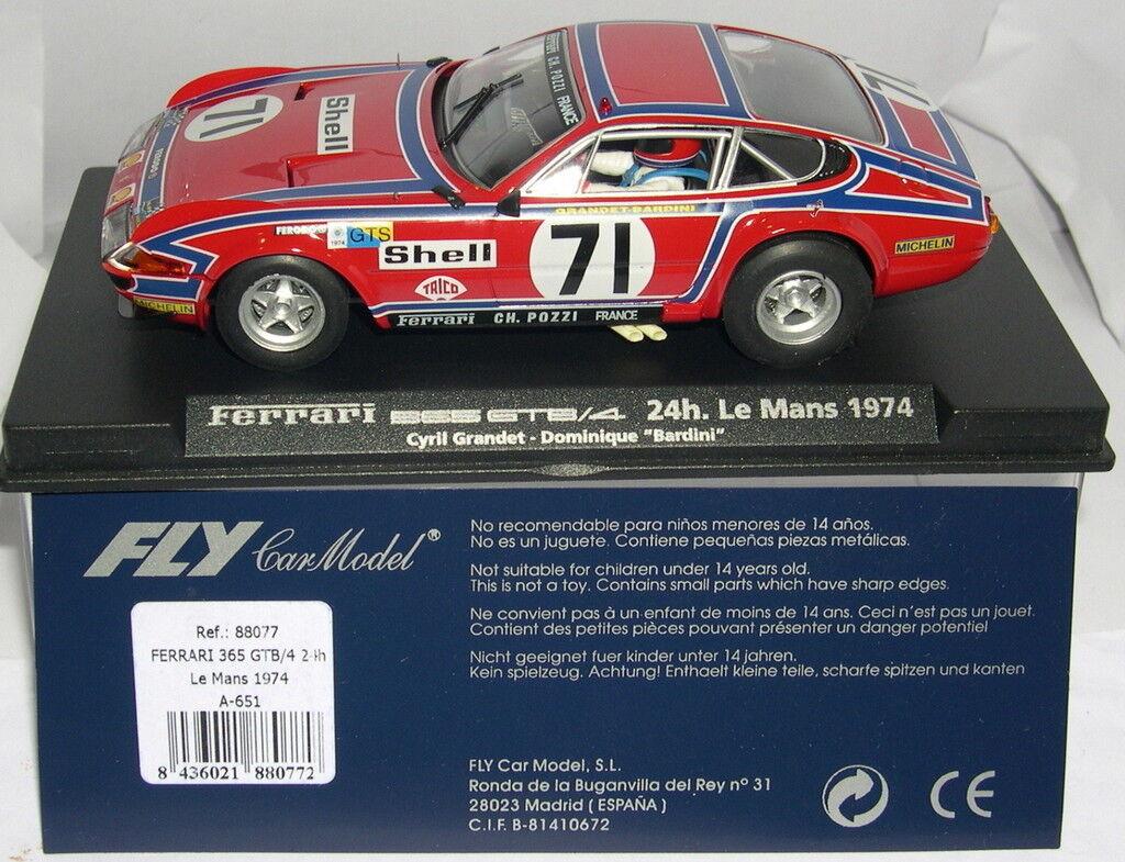 FLY 88077 A-651 FERRARI 365GTB 4 H LE MANS 1974 C.GRANDET D. BARDINI MB