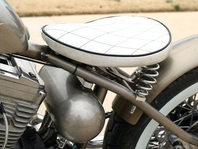 "5/"" Chrome Straight Springs Solo Seat 2 Pack Motorcycle Custom Bobber Cafe Honda"