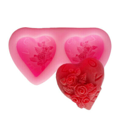 New 3D Love Soap Mould Candle Mold DIY Handmade Silicone Craft Cake Baking Top