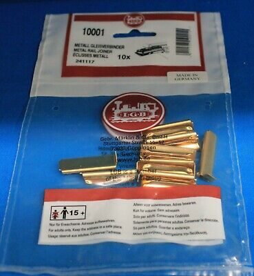 LGB 10001 BRASS METAL RAIL JOINERS NEW BAG OF 10 PIECES SEALED