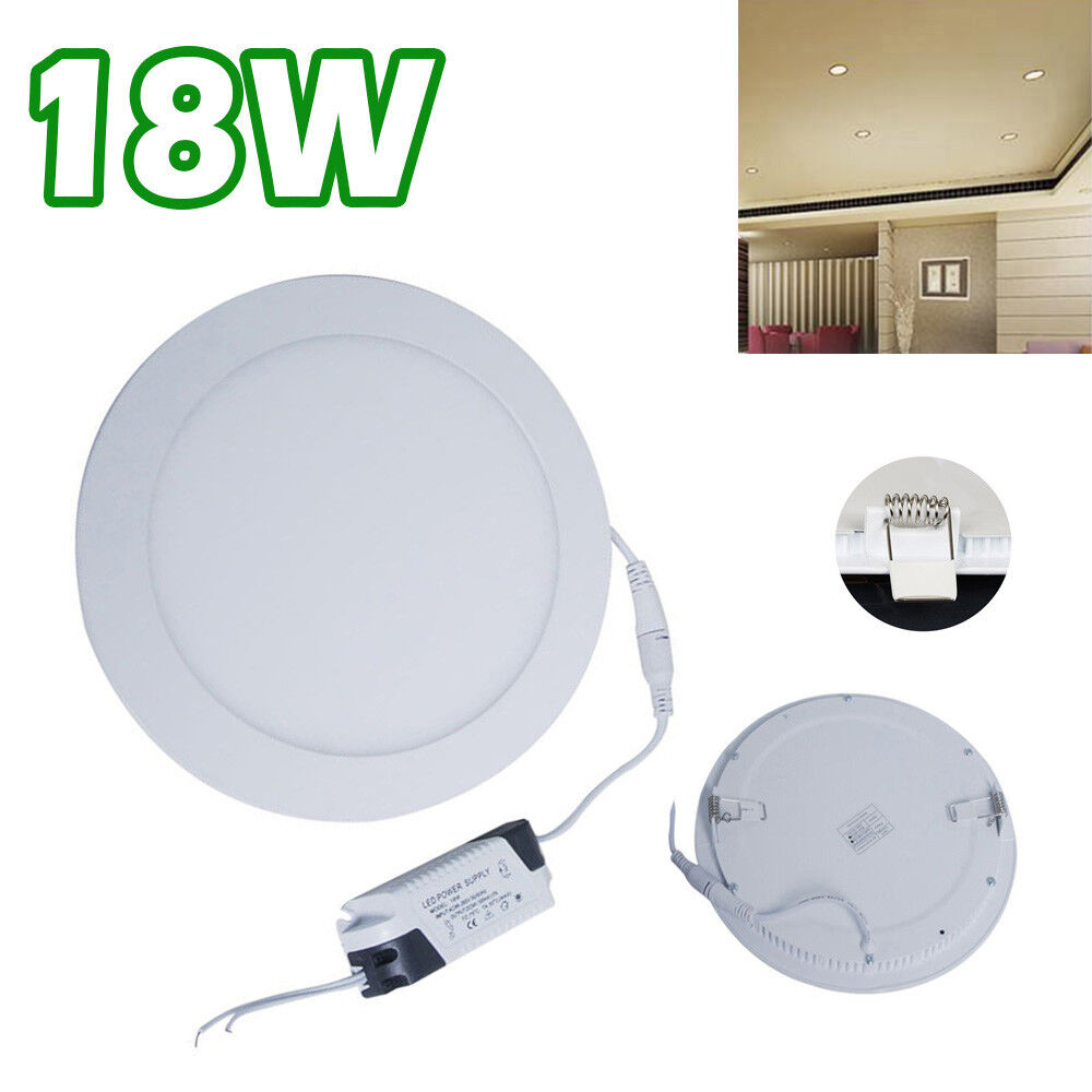 18 Watt Slim Round Ceiling Suspended LED Panel Cool Weiß Light DCUK