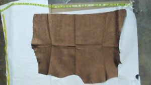 """Sheepskin Leather Skin Hide Veg Tanned Grainy Off White 10/"""" x 10/"""" Inches,1.5 oz."""