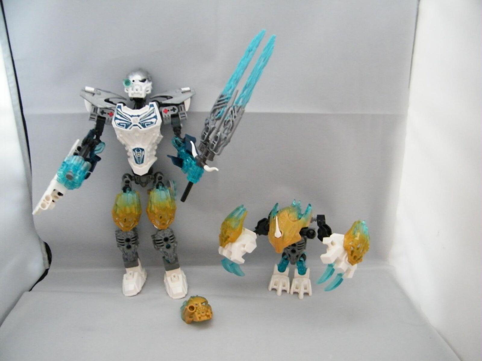 Lego Bionicle 71311 Kopaka et melum Unity Unité Glace Complet Assemblé figures