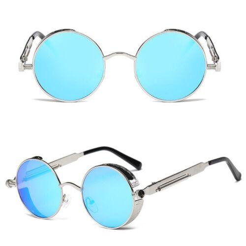 Fashion Mens Sunglasses Retro Design Round Sun Glasses Steampunk Shades Women