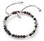 miniature 5 -  Bracelet Silver Leaf Natural Gemstone 4mm Bead Macrame Healing Reiki UKselle