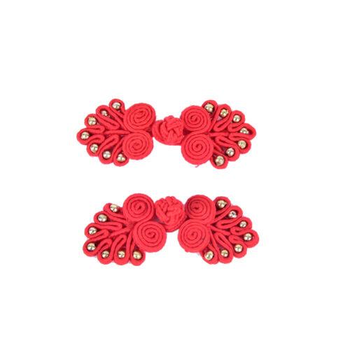 Handgemachte chinesische Knoten Frosch Knöpfe Verschlüsse Perlen DIY Nähen 0U