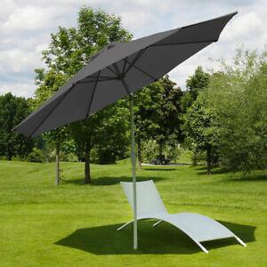 Aluminio-Sombrilla-Rosta-270cm-Inclinable-Inoxidable-Antracita