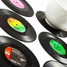 Retro Vinyl Set of 6 Drinking Coasters