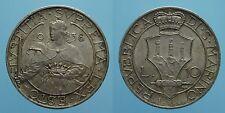 SAN MARINO RARO 10 LIRE 1938 ROMA SPL
